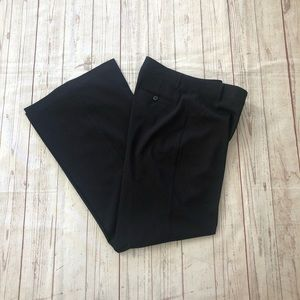 CAbi #387 wide leg black career pants size 8
